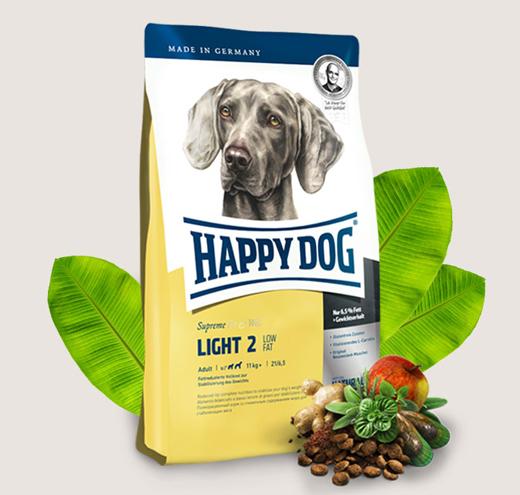 Happy dog Light 2 - храна за кучета с ниско съдържание на мазнини 7%
