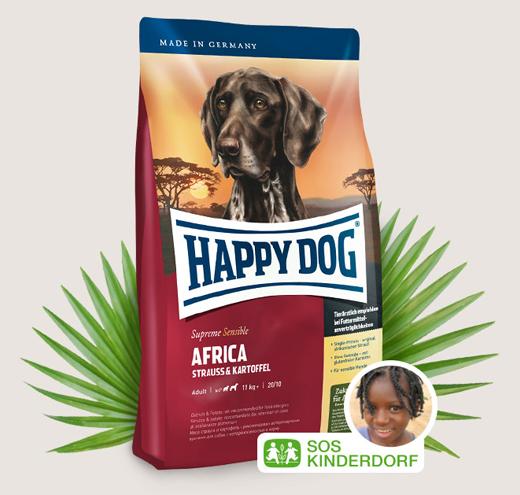 Храна за чувствителни кучета Happy Dog Супер Премиум Африка