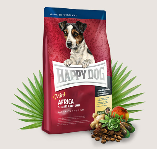 Храна за чувствителни кучета Happy Dog Мини Африка