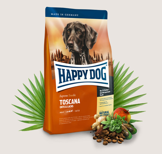Храна за чувствителни кучета Happy Dog Супер Премиум Тоскана