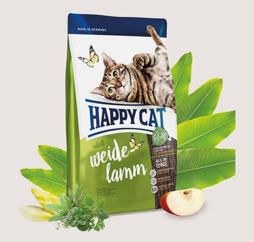 Храна за домашни котки с Агнешко Happy Cat Indoor