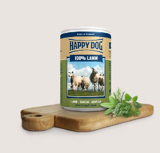 HappyDog-Консерва за кучета с агнешко месо