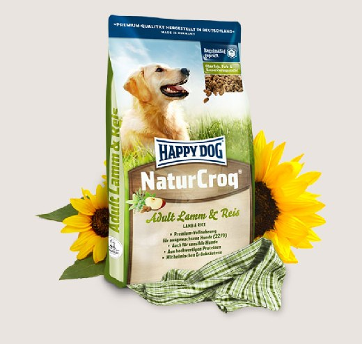Премиум храна за кучета Happy Dog – Natur Croq Lamm & Reis