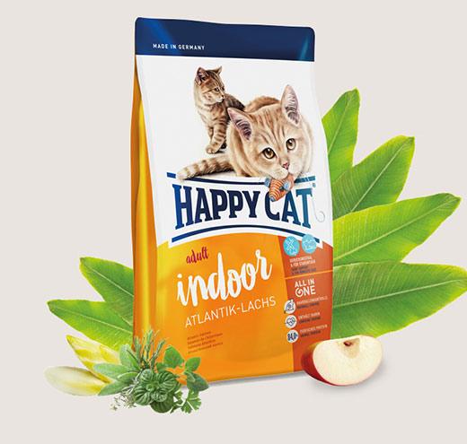 Happy Cat Indoor с Атлантическа сьомга