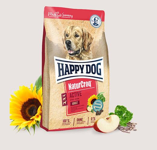 Премиум храна за спортни кучета Happy Dog NatureCroq Active