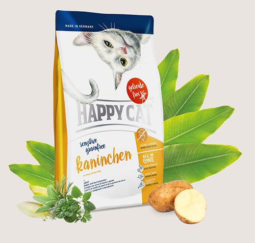 Храна за котки Happy Cat Sensitive Grain Free Rabbit – със заешко месо