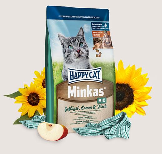 Храна за стерилизирани котки Happy Cat Minkas Mix