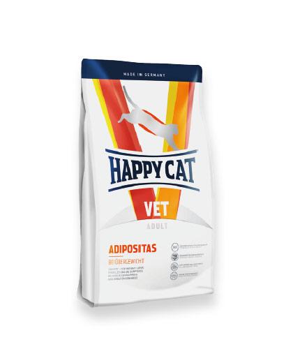 ADIPOSITAS - HAPPY CAT ВЕТЕРИНАРНИ ДИЕТИ ПРИ ЗАТЛЪСТЯВАНЕ