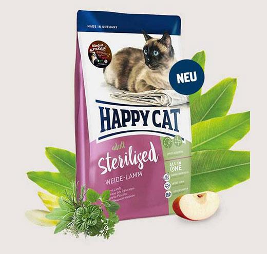 Храна за котки Happy Cat за Стерилизирани котки с Агнешко