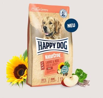 Премиум храна за кучета Сьомга с ориз Happy Dog Natur Croq Lachs & Reis